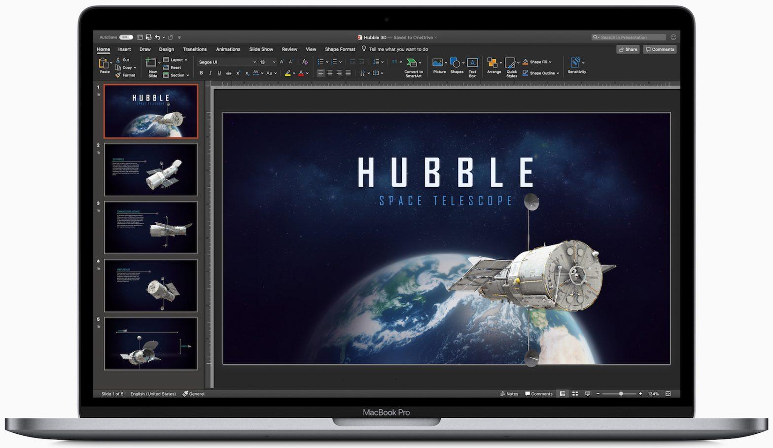 PowerPoint on a Mac Laptop