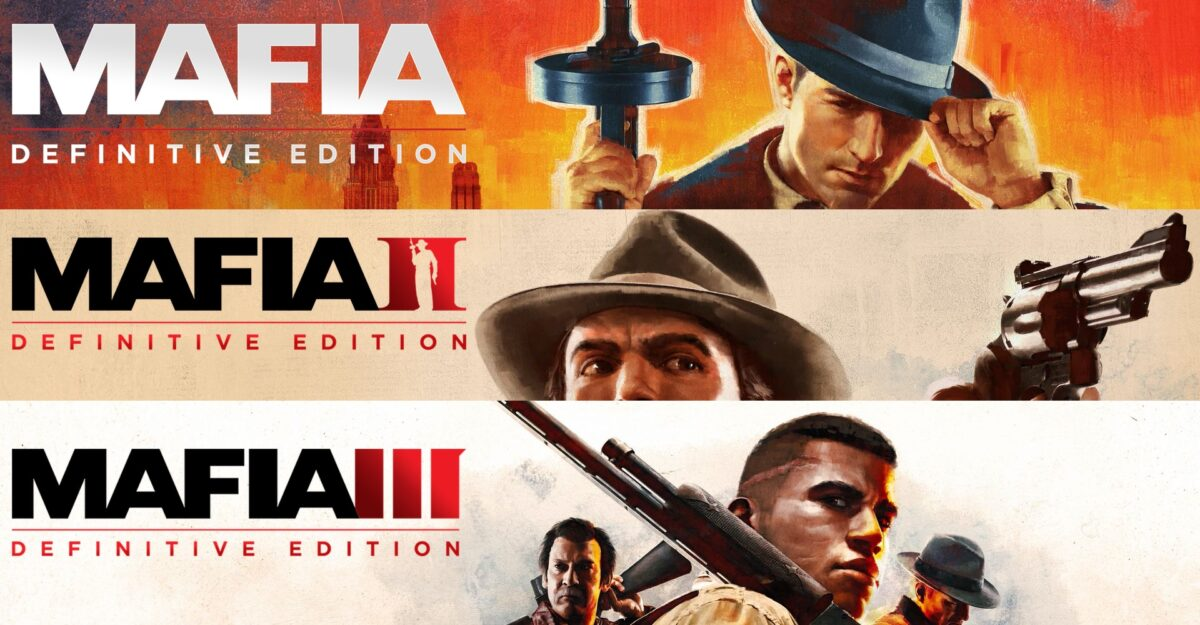 Mafia Series headers with pictures and title of each game.