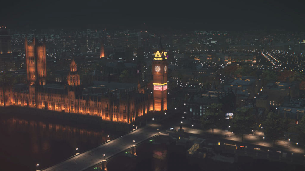 The Parliament Building with Big Ben in Watch Dogs: Legion