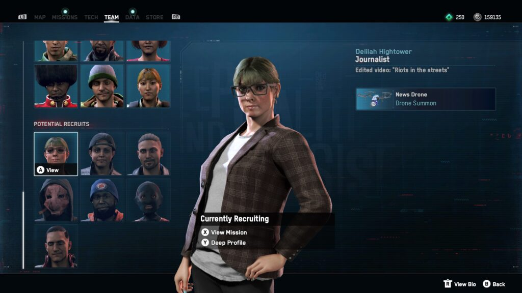 List of potential recruits in Watch Dogs Legion