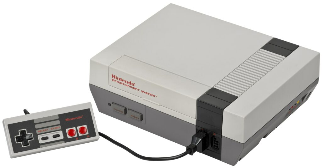Nintendo Entertainment System Console.