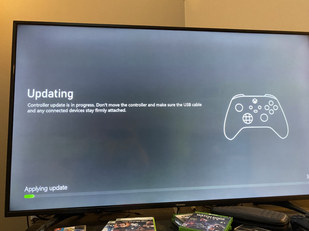 Xbox Series X performing controller update