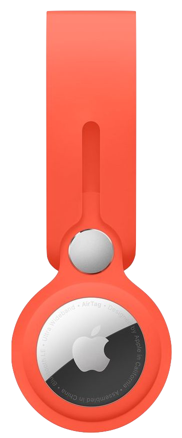 AirTag Loop in Electric Orange color