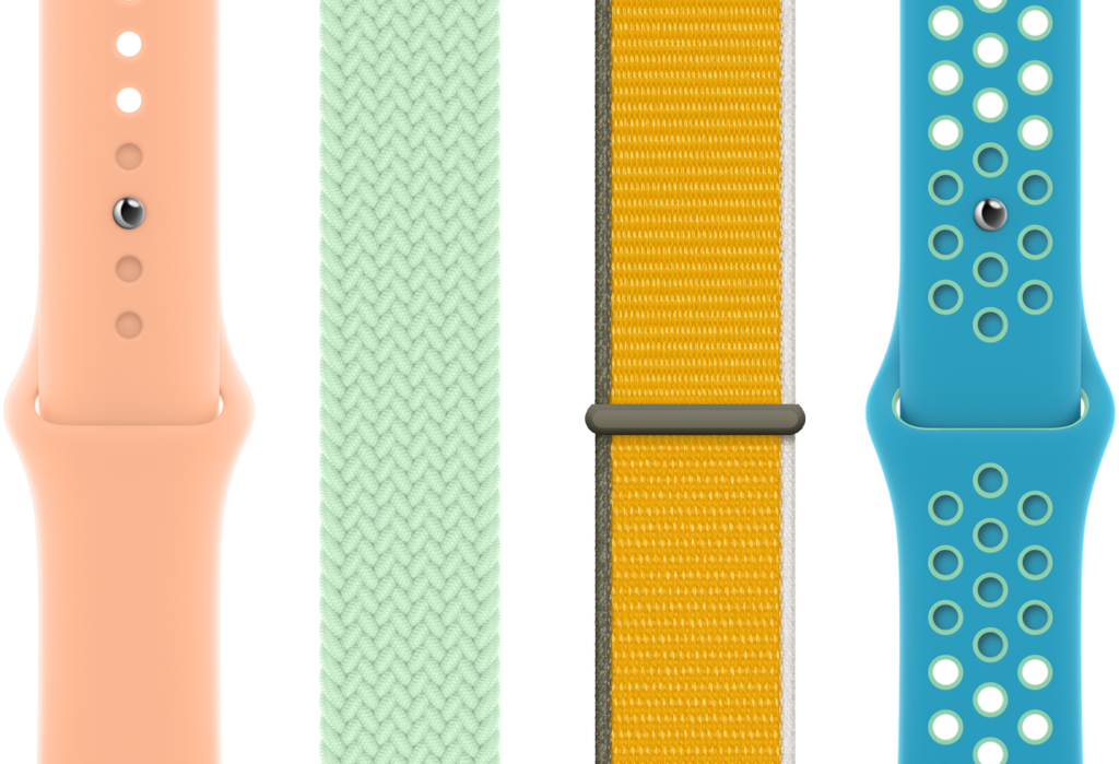Variety of Apple Watch Bands available in Spring 2021.