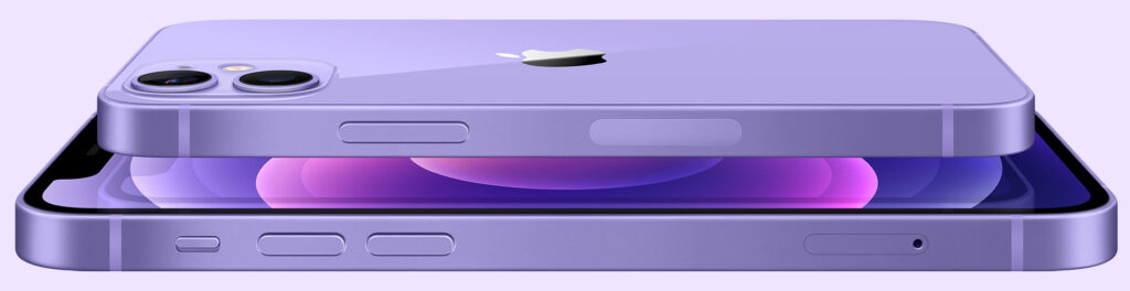 iPhone 12 mini and iPhone 12 in Purple