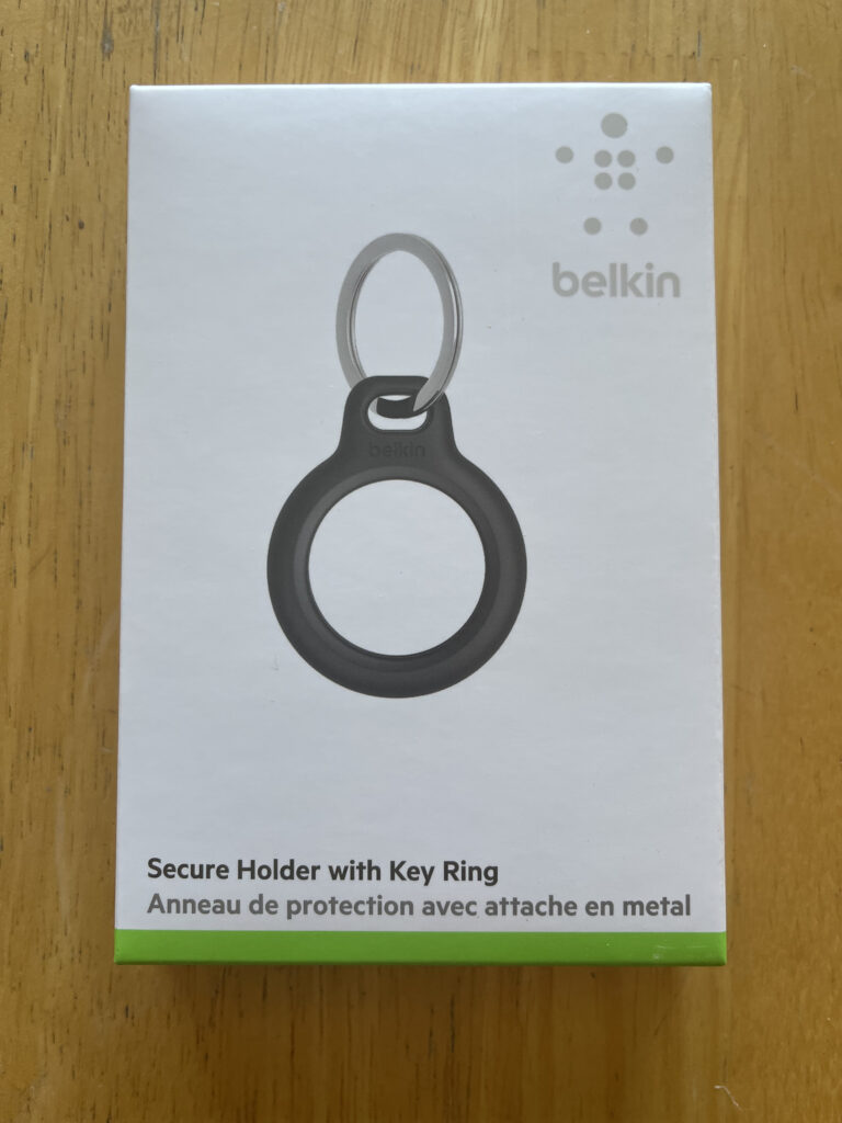 AirTag Belkin Secure Holder with Key Ring Package