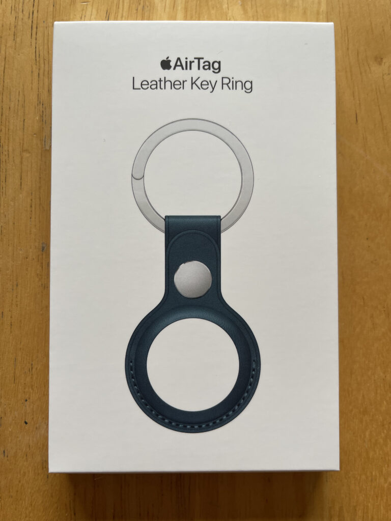 Apple AirTag Leather Key Ring in Baltic Blue
