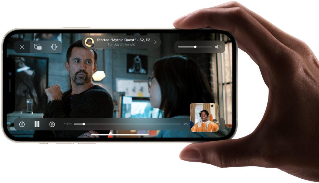 iOS 15 SharePlay in FaceTime