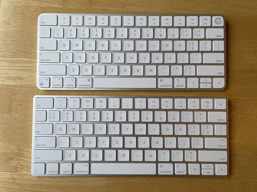 Magic Keyboard With Touch ID as compared to older Magic Keyboard