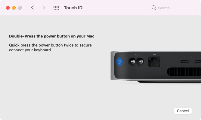 Touch ID Mac and Keyboard Pairing Prompt