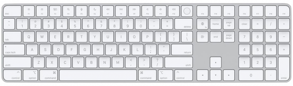 Standalone Magic Keyboard with Touch ID with Numeric Pad