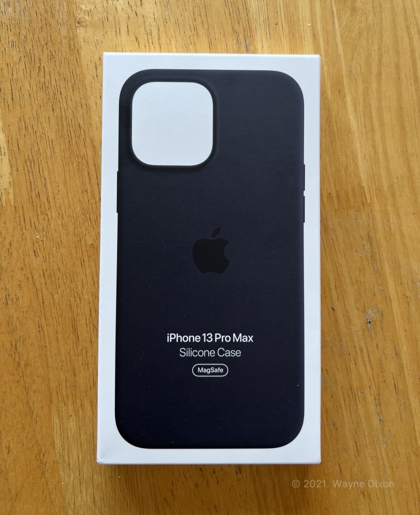 Box of an iPhone 13 Pro Max Case in Midnight