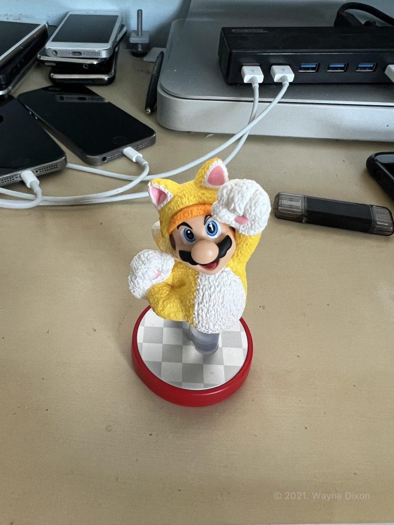 "Photo of Mario Figurine using ""Standard"" Photographic Style"