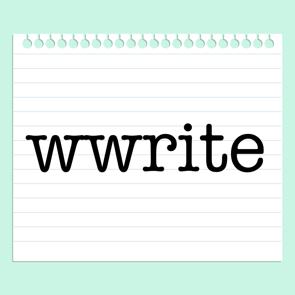 300 pixels by 300 pixels wwrite icon